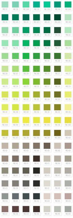 Pantone  Colors    Pantone Color Pallets And Color