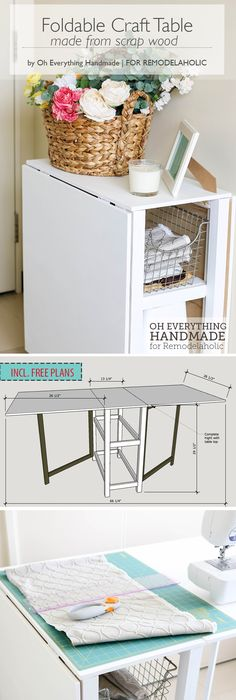 Make Your Small Craft Area Work With This Space Conscious DIY Foldable  Craft Table, Built From Inexpensive Materials Or Even Scraps.