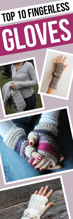 Amazing DIY Crochet Fingerless Gloves for a Super Lady. No pattern ...