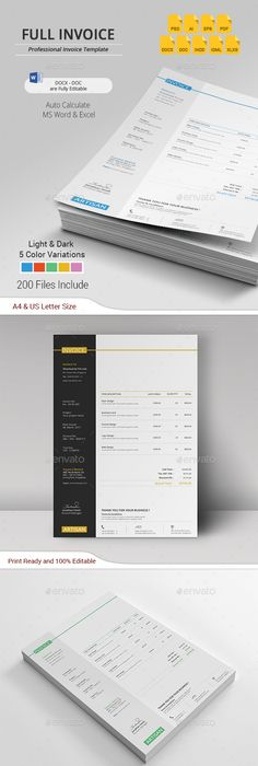 Invoice Proposals, Minimal and Template - new letter format extension time