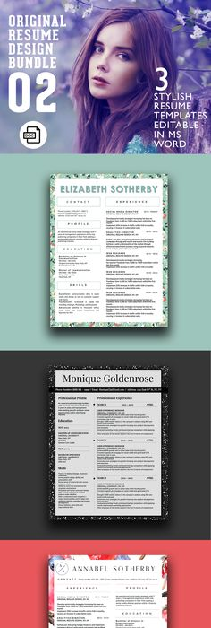 instant digital download word format psd cv template cover