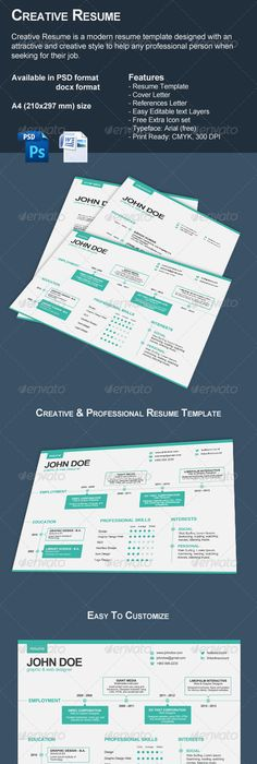 The Modern Resume Modern Resume Set  Modern Resume Template And Creative Resume .