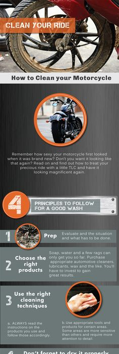 Motorcycle maintenance punch list cars amf harley and cb650 how to clean your motorcycle infographic howto diy motorcycle fandeluxe Image collections