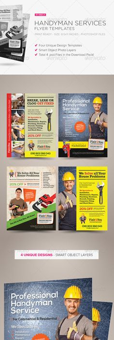 handyman services flyer  u0026 ad template