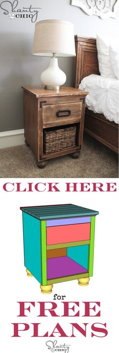 how to build a farmhouse night stand nightstands bedrooms and