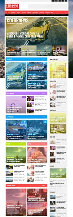 The News Time Magazine WordPress theme   Wordpress themes ...