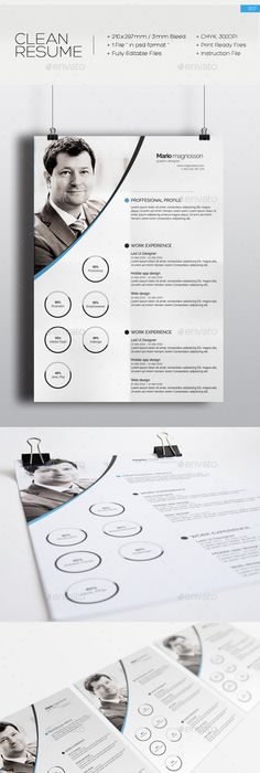 2-Piece Clean Simple Resume with Cover Letter by mancierauthan A
