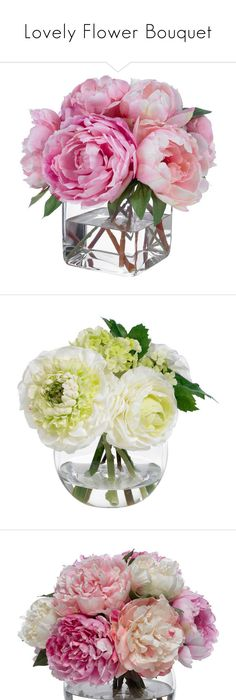 Fake flowers or real ones when it comes to decorating this site lovely flower bouquet by anetacerna liked on polyvore featuring home home decor floral decor silk peony bouquet fake peony arrangement mightylinksfo