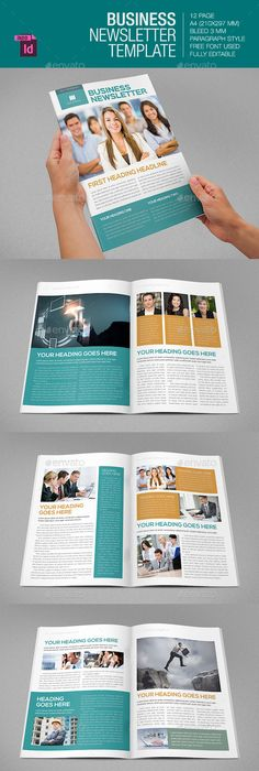 Page Business And Corporate Newsletter  Print Templates