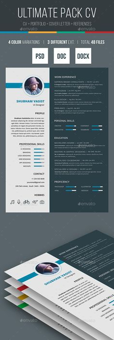 Resume Ai illustrator, Template and Resume cv - different resume templates