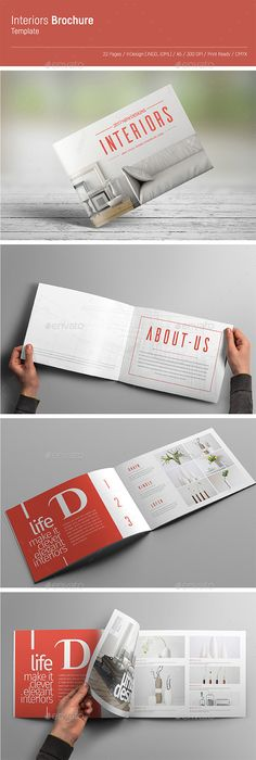 Portfolio Brochure Catalogs Template InDesign INDD - 16 Pages ...
