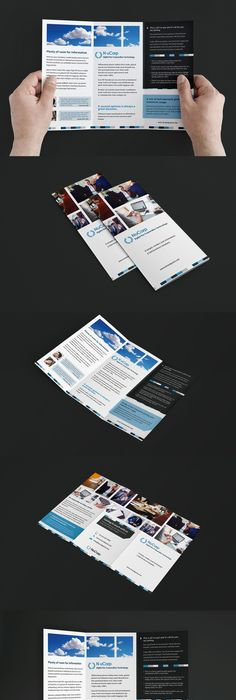 Free Trifold Brochure Template For Adobe Photoshop Illustrator