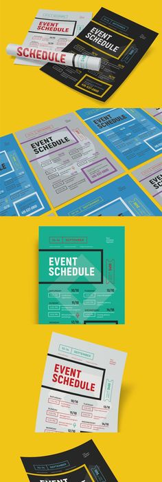 Schedule Event Poster Template Vol  Event Poster Template
