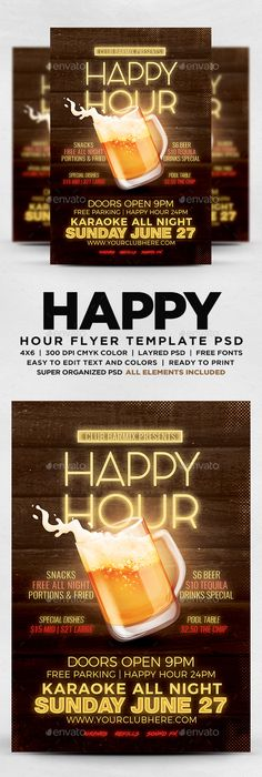 Happy Hour Indie Flyer Vol   Happy Hour Indie And Noodle