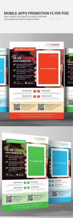 phone app promotion flyer template flyer template promotion and