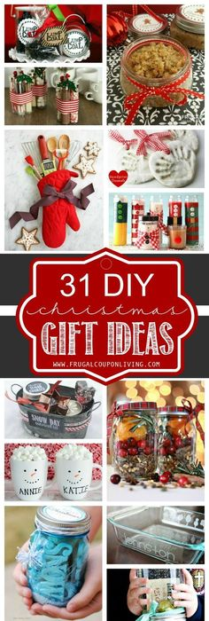 25 easy homemade christmas gifts you can make in 15 minutes diy 31 diy christmas gift ideas solutioingenieria Image collections