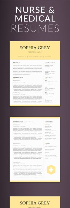 Creative  modern Resume / CV Template for Word AND Pages - resume 5 pages