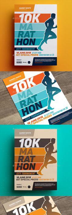 Marathon Event Flyer  Event Flyer Templates Event Flyers And