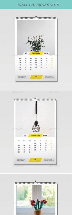 Wall Calendar 2018 Calendar 2018 Ai Illustrator And Template