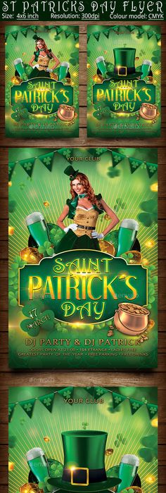 Saint PatrickS Drinking Games Flyer Is A Photoshop Psd Template