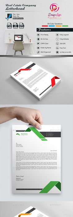 Business Letterhead Designs  Custom Company Letterheads Usa