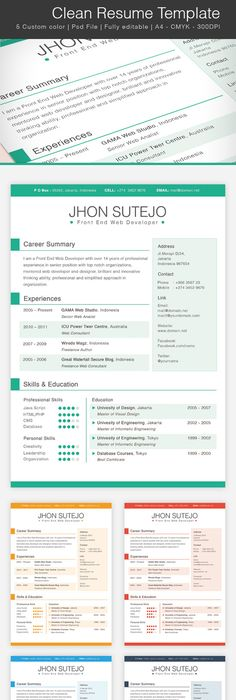 Free Resume Template   Free Psd Files    Template