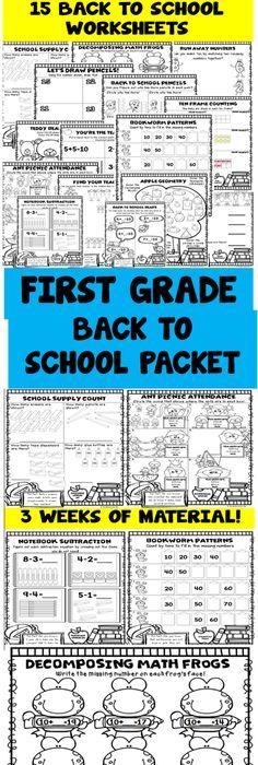 Kindergarten Back to School Math Packet | Pre-school, Maths and Math ...