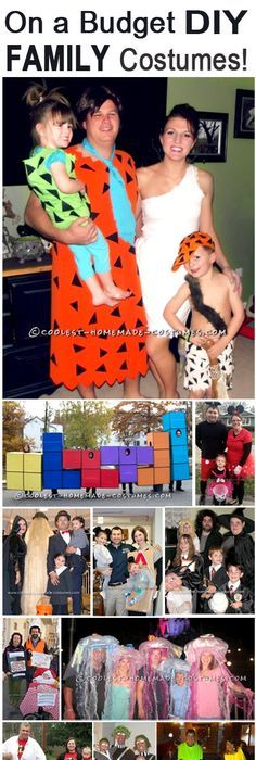 Top 11 DIY Family Halloween Costume Ideas on a Budget  sc 1 st  Pinterest : diy family halloween costume ideas  - Germanpascual.Com