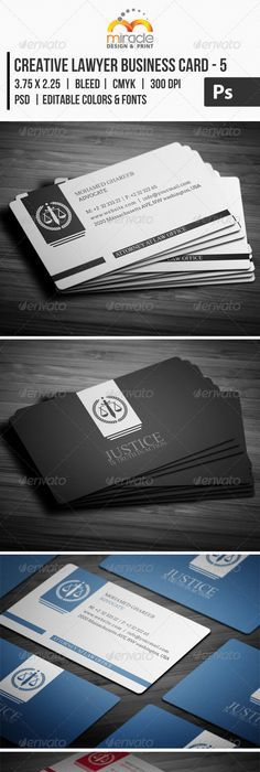 Lawyer attorney professional elegant black business card creative lawyer business card 5 reheart Image collections