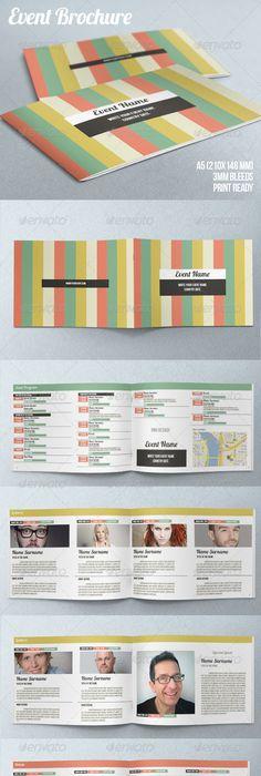 Awesome Conference Program Booklet Images  Brochure Design