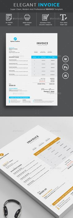 Invoice Template  Template Ai Illustrator And Graphic Design