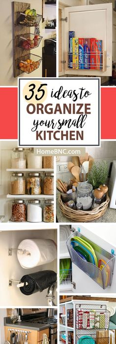 Charmant 35 Practical Storage Ideas For A Small Kitchen Organization