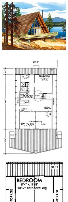 a frame style cool house plan id chp 41795 total living area 734