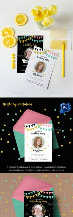 Bakery Soft Opening Invitation Card Template Card templates - birthday invitation card template photoshop
