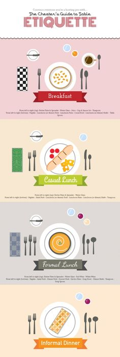 How to set a table. when you have that much company I guess | Crafty! | Pinterest | Etiquette Table settings and Food  sc 1 st  Pinterest & How to set a table. when you have that much company I guess ...