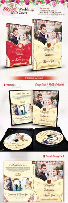 Beautiful Wedding Dvd Cover Psd Template   Dvd