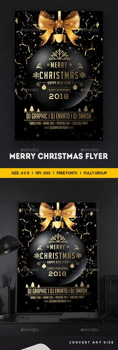 Christmas Party Flyer Party flyer, Flyer template and Christmas