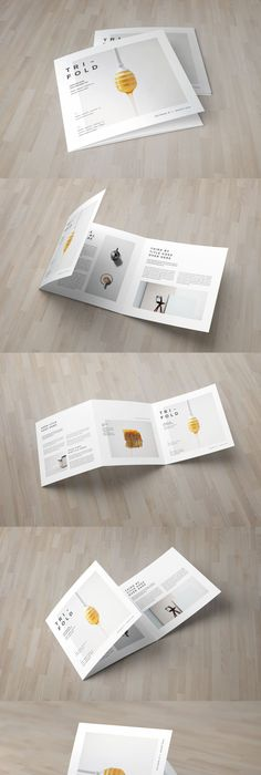 Square Minimal Cool White Trifold Brochure Template Brochures And