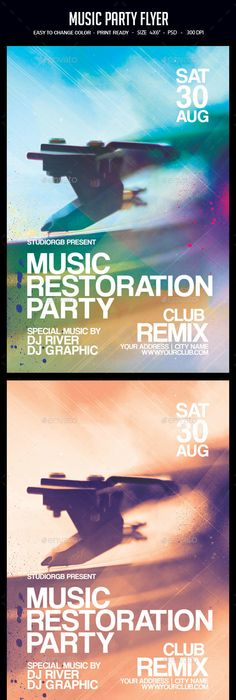 Minimal Club Flyer Poster Template Minimal, Music party and Template