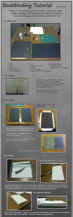 how to make a book binding instructions Party planning Pinterest - new blueprint paper binding strips