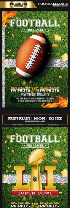 American Football Flyer / Football League | American football ...