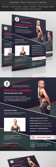 Personal Trainer Flyer 25 Web Design Pinterest Personal Trainer