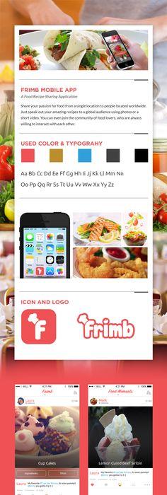 Food recipe sharing app frimb behance design pinterest forumfinder Image collections