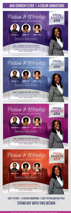 pastoral anniversary flyer template  flyerthemes