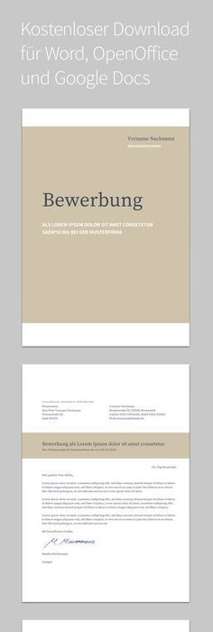 Bewerbungsvorlagen: Über 40 Gratis-Muster | Business, Layouts and ...