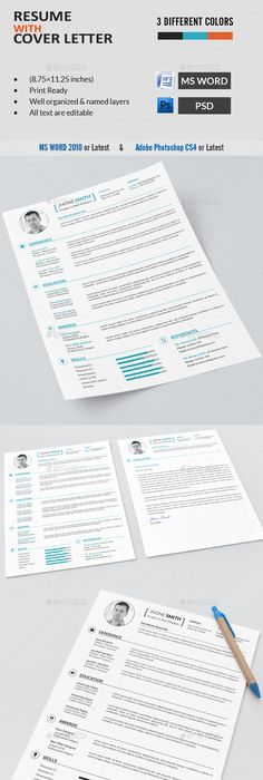 Clean, Modern Tech Industry Resume / CV Resume cv, Tech and Modern - different resume templates