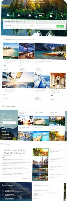 Travel Agency  Multipurpose Booking Psd Template By Nicola