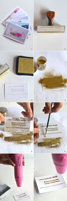 Diy gilded business cards business cards business and salons diy embossed instragram business cards claire zinnecker for camille styles reheart Choice Image
