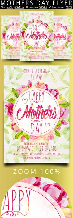 Mother\u0027s Day Flyer Flyer template, Template and Graphic design posters - mothers day flyer