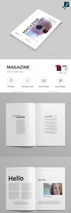 Minimal Fashion Magazine Template  Layouts Minimal Fashion And